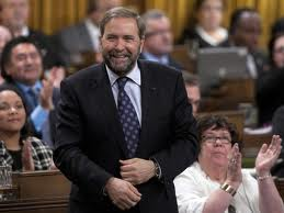 Tom Mulcair with Libby Davies