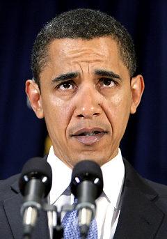 Obama looking like a goofball