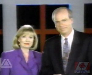 Pamela Wallin and Peter Mansbridge when Wallin worked at CBC