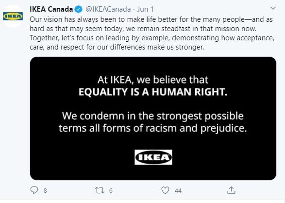 Ikea tweets with link